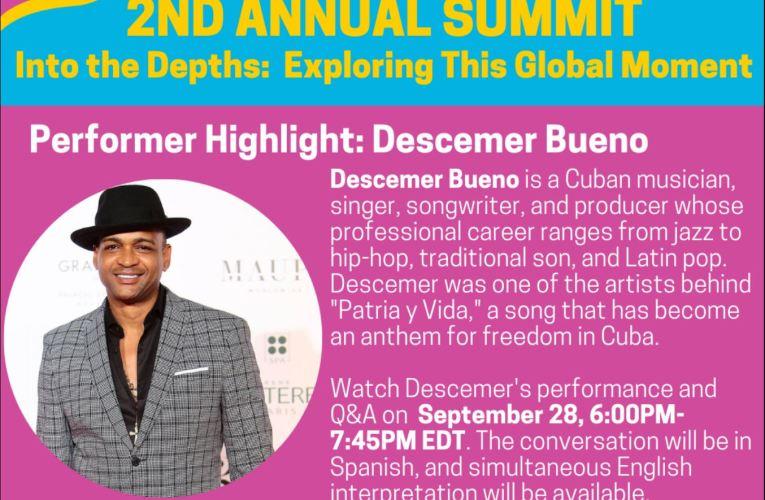 Cuban Artist Descemer Bueno Performing During Pittsburgh World Affairs Council Summit